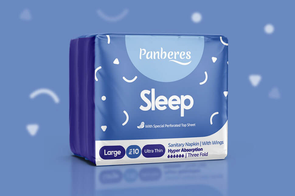 Netbina designs the new packaging of Panberese sanitary products
